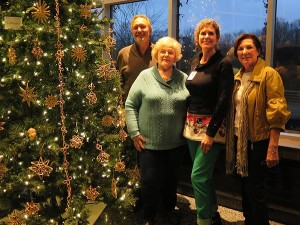 Lithuanian Christmas Tree with Ursula Astras' straw ornaments at Frederik Meijer Gardens