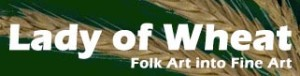 Lady of Wheat - Ursula Astras - Folk art into fine art - Logo - design by © Don Astras