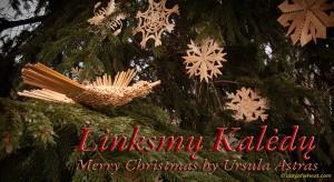 Ursula Astras Straw Christmas Ornaments Bird-1082B Linksmų Kalėdų - Merry Christmas. © ladyofwheat.com Photo by Don Astras